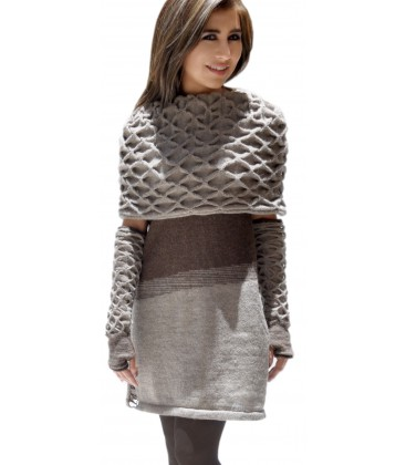 473a5eb6df4 Robe laine robes longues manches longues
